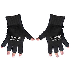 Sex Pistols Unisex Fingerless Gloves: Nowhere & Boredom