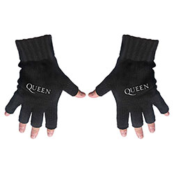 Queen Unisex Fingerless Gloves: Logo