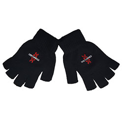 Disturbed Unisex Fingerless Gloves: Reddna