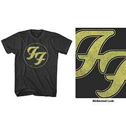 Foo Fighters Unisex Tee: Distressed FF Logo