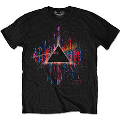 Pink Floyd Unisex Tee: Dark Side of the Moon Pink Splatter