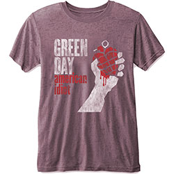 Green Day Unisex Tee: American Idiot (Burn Out)