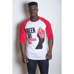 Green Day Men's Raglan Tee: American Idiot