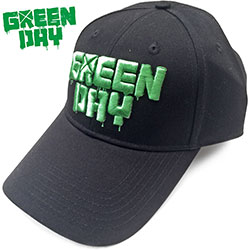 Green Day Unisex Baseball Cap: Dripping Logo