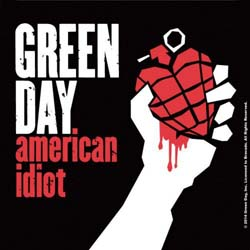Green Day Single Cork Coaster: American Idiot