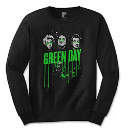 Green Day Unisex Long Sleeved Tee: Drips