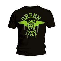 Green Day Unisex Tee: Neon Black