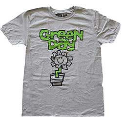 Green Day Unisex Tee: Flower Pot