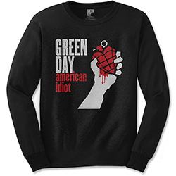 Green Day Unisex Long Sleeved Tee: American Idiot
