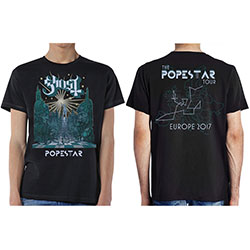 Ghost Men's Tee: Lightbringer Popestar Tour Europe 2017