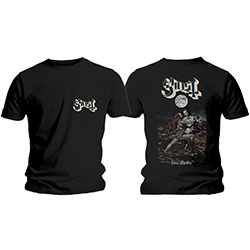 Ghost Men's Tee: Dance Macabre Cover & Logo (Back Print)