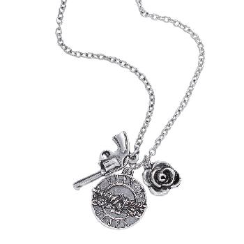 Guns N' Roses Necklace: Triple Charm