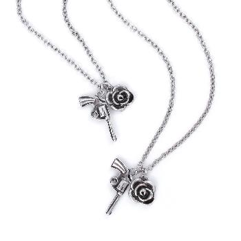 Guns N' Roses Necklace & Bracelet Set: Twin Charms