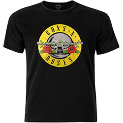 Guns N' Roses Unisex Fashion Tee: Circle Logo with Foiled Application