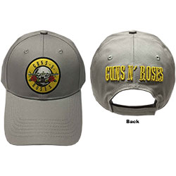 Guns N' Roses Baseball Cap: Circle Logo (Grey)