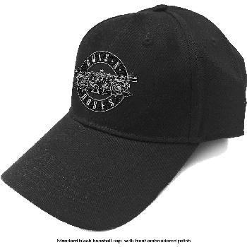 Guns N' Roses Unisex Baseball Cap: White Circle Logo