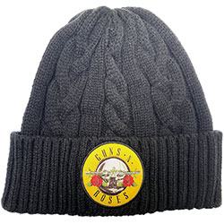 Guns N' Roses Unisex Beanie Hat: Circle Logo (Cable Knit)