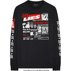 Guns N' Roses Unisex Long Sleeved Tee: Lies Cover (Arm Print)