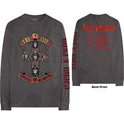 Guns N' Roses Unisex Long Sleeved Tee: Appetite Tour (Back & Arm Print)