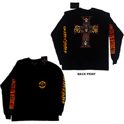 Guns N' Roses Unisex Long Sleeved Tee: Appetite For Destruction (Ex-Tour/Back Print)