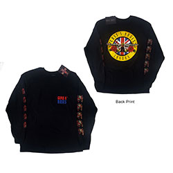 Guns N' Roses Unisex Long Sleeved Tee: Live In London (Ex-Tour/Back Print)