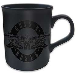 Guns N' Roses Boxed Matt Mug: Circle logo (Black on Black Matt)