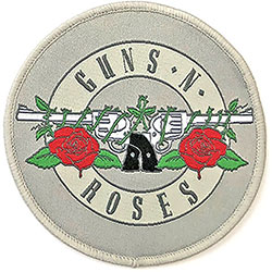 Guns N' Roses Standard Patch: Silver Circle Logo