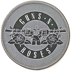 Guns N' Roses Standard Patch: White Circle Logo