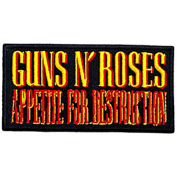 Guns N' Roses Standard Patch: Appetite For Destruction