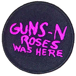 Guns N' Roses Standard Patch: Was Here