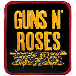 Guns N' Roses Standard Patch: Stacked Black