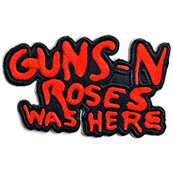 Guns N' Roses Standard Patch: Cut-Out Was Here