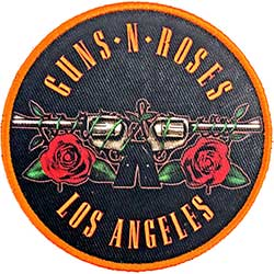 Guns N' Roses Standard Patch: Los Angeles Orange