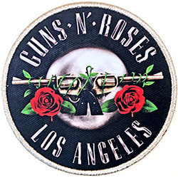 Guns N' Roses Standard Patch: Los Angeles Silver