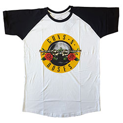 Guns N' Roses Men's Raglan Tee: Circle Logo