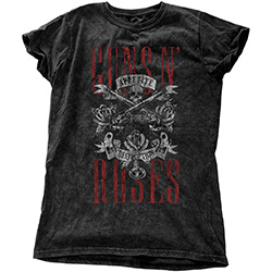 Guns N' Roses Ladies Fashion Tee: Appetite for Destruction (Snow Wash)