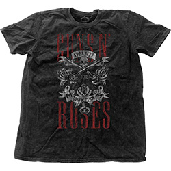 Guns N' Roses Men's Fashion Tee: Appetite for Destruction (Snow Wash)