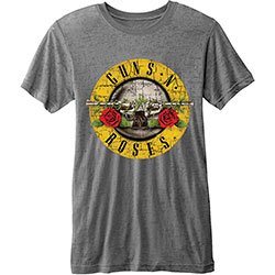 Guns N' Roses Unisex Fashion Tee: Circle Logo (Burn Out)