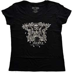 Guns N' Roses Ladies Tee: Skeleton Guns