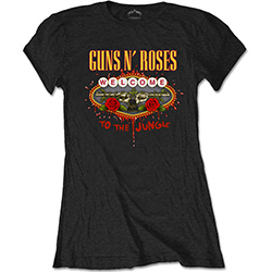 Guns N' Roses Ladies Tee: Welcome to the Jungle
