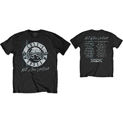 Guns N' Roses Men's Tee: Not in this Lifetime Tour Xerox (Back Print)