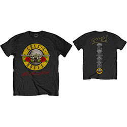 Guns N' Roses Unisex Tee: Not in this Lifetime Tour (Back Print)