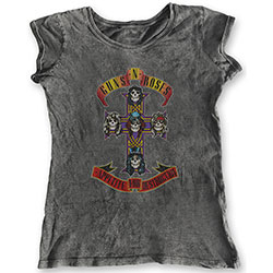 Guns N' Roses Ladies Fashion Tee: Appetite for Destruction (Acid Wash Finish)