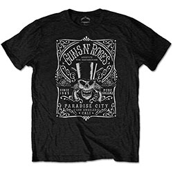 Guns N' Roses Men's Tee: Bourbon Label