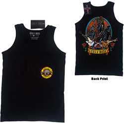 Guns N' Roses Unisex Tee Vest: Skeleton Performance (Ex-Tour/Back Print)