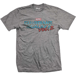 Marvel Comics Unisex Tee: Guardians of the Galaxy Vol. 2 Vintage Colour Logo