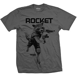 Marvel Comics Unisex Tee: Guardians of the Galaxy Vol. 2 Rocket Mono