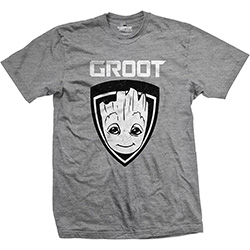 Marvel Comics Unisex Tee: Guardians of the Galaxy Vol. 2 Groot Shield
