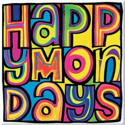 Happy Mondays Fridge Magnet: Dayglo Logo