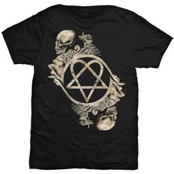 HIM Men's Tee: Bone Sculpture (Back Print)